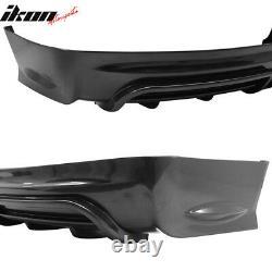 Fits 13-15 Honda Civic Sedan Mugen RR Style Rear Bumper Lip With LED Brake Light