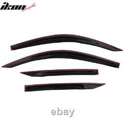 Fits 16-20 Honda Civic Coupe 2D 2DR Mugen Style Acrylic Window Visors 4Pc Set