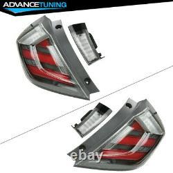 Fits 17-20 Honda Civic 10th Gen FK8 Type R Hatchback Mugen LED Tail Lights Pair