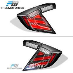 Fits 17-20 Honda Civic 10th Gen Type R Hatchback Mugen LED Tail Lights 4PC Set