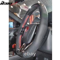 Fits 17-20 Honda Civic 10th Gen Type R Mugen Sports Steering Wheel Carbon Fiber
