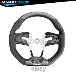 Fits 17-20 Honda Civic FK8 Type R Mugen Sports Steering Wheel Carbon Fiber