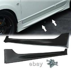 Fits 2006-2011 Honda Civic 4 Door Mugen RR Style Side Skirts Unpainted Black PP