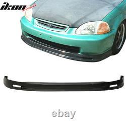 Fits 96-98 Civic 2Dr/4Dr Mugen Front + Rear Bumper Lip + TR Front Hood Grill