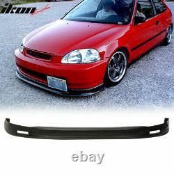 Fits 96-98 Honda Civic 4Dr Mugen Style Front Bumper Lip + Sun Window Visor
