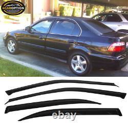 Fits 96-98 Honda Civic 4Dr PP Front Bumper Lip + Sun Window Visor