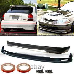 Fits 96-98 Honda Civic EK 3DR Hatchback Mugen Style Front & Rear Bumper Lip Set