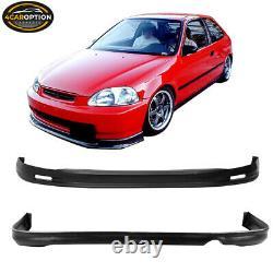 Fits 96-98 Honda Civic Mugen Front + Rear Bumper Lip