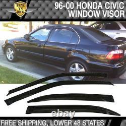 Fits 96-98 Honda Civic PP Front Bumper Lip Spoiler + Sun Window Visor
