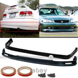 Fits 99-00 Honda Civic 2DR 4DR Polyurethane Mugen Style Front & Rear Bumper Lip