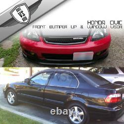 Fits 99-00 Honda Civic Mugen Front Bumper Lip Spoiler PP + Sun Window Visor