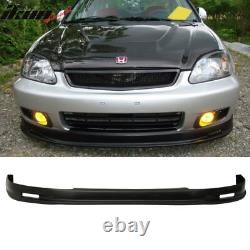 Fits Civic 99-00 Mugen PP Front Bumper Lip + Front Grille + Sun Window Visor