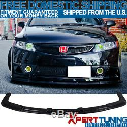 Fits Honda Civic 06-09 10 11 Mugen RR Front Bumper Lip Spoiler USDM ABS