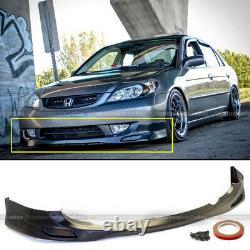 For 04 05 Honda Civic 2/4dr JDM PDM Style Front Bumper Lip Body Kit