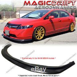 For 06 07 08 Honda Civic Sedan 4dr MDA Style Front Bumper Lip Chin Spoiler