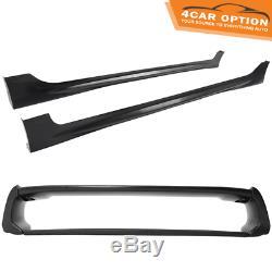 For 06-11 Civic Mugen RR PP Front Bumper + Side Skirt + Rear Lip + Trunk Spoiler