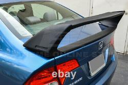 For 06-11 Civic Sedan Mugen RR Style ABS Plastic Rear Spoiler With 2X Red Emblem