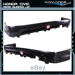 For 06-11 Honda Civic Mugen RR Style Bodykit Front Bumper + Rear Lip