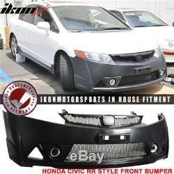 For 06-11 Honda Civic Mugen RR Style Front Bumper + Rear Lip PP