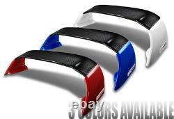 For 12-15 Honda Civic 9Th Sedan MUGEN Carbon Fiber Factory Red Rear Spoiler Wing