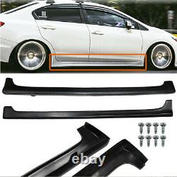 For 12-15 Honda Civic 9th 4Dr Mugen RR Style Side Skirts Rocker Panels Pair ABS