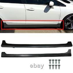 For 12-15 Honda Civic 9th GEN 4Dr 4-Door Sedans JDM Mugen Style Side Skirt RR