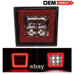 For 12 Civic Mugen RR Style Rear Bumper Lip With 3rd Brake Light Led ABS