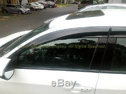 For 16-20 Honda Civic Hatchback Mugen Style Smoke Tinted Side Vent Window Visors