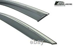 For 16-Up Honda Civic 4Dr MUGEN Clip-On CHROME TRIM Side Window Vents Sun Shade