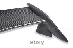 For 16-Up Honda Civic Coupe Type-R Style CARBON FIBER Rear Trunk Lip Spoiler