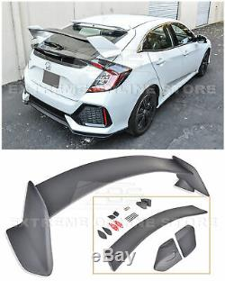 For 16-Up Honda Civic FK7 Hatchback Type-R Style JDM Rear Trunk Lip Wing Spoiler