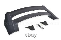 For 16-Up Honda Civic Hatchback MUGEN Style Rear Roof Wing Spoiler BLACK Emblem