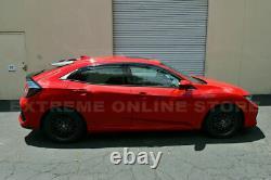 For 16-Up Honda Civic Hatchback Rear Roof MUGEN Style Wing Spoiler Black Emblem
