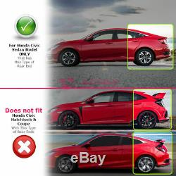 For 16-Up Honda Civic Sedan FC1 FC2 Type-R Style Add-On Rear Roof Wing Spoiler