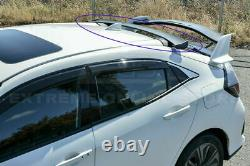 For 16-Up Honda Hatchback Civic Spoon Style JDM ABS Rear Roof Spoiler FK4 FK7