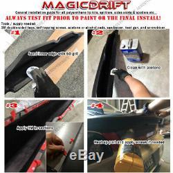 For 17-19 Honda Civic Hatchback JDM CS Style Front Bumper Lip Chin Splitter Aero
