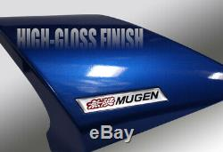 For 2012-2015 Honda Civic 4DR MUGEN Carbon Fiber Factory Blue Rear Spoiler Wing