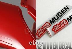 For 2012-2015 Honda Civic 4DR MUGEN Carbon Fiber Factory Rear Spoiler Wing RED