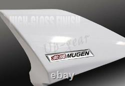 For 2012-2015 Honda Civic 4DR MUGEN Carbon Fiber Factory Rear Spoiler Wing WHITE