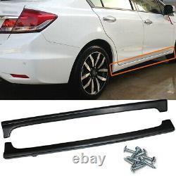 For 2012-2015 Honda Civic 9th 4Dr Mugen RR Style Side Skirts Rocker Panels ABS