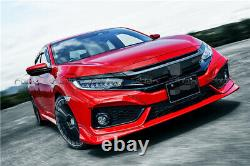 For 2017-2019 Honda Civic Mugen Style FK7 Hatchback FRP Front Side Lip Splitter