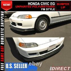 For 92-95 Honda Civic Jdm First Dp Style Front Bumper Splitter Lip Fm Molding