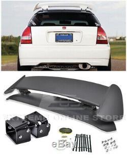 For 96-00 Civic EJ6 Type-R CTR Rear Roof Wing Spoiler With BLACK Alex Tilt Bracket