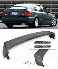 For 96-00 Civic Sedan MUGEN Style JDM Rear Trunk Wing Spoiler BLACK Emblem Pair