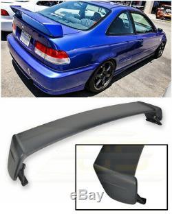 For 96-00 Honda Civic Coupe MUGEN Style PRIMER BLACK Rear Trunk Lid Wing Spoiler