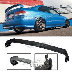 For 96-00 Honda Civic Mugen Style Rear Wing trunk Spoiler ABS Plastic 2Dr Coupe
