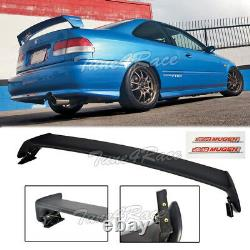 For 96-00 Honda Civic Mugen Style Trunk Wing Spoiler 2Dr Coupe with Red emblems