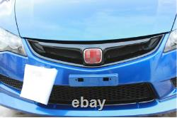 For Honda Civic Type/R Mugen Front Bumper Center Hood Grill Mesh Carbon Fiber
