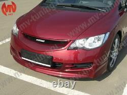 Front & Rear Lips Skirts Mugen Style for Honda Civic 4D Sedan 8th gen 2006-2012