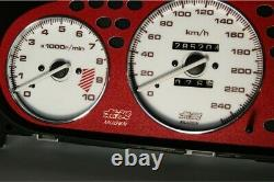 Honda Civic 1996-2000 Mugen glow gauge plasma dials tachoscheibe glow shift
